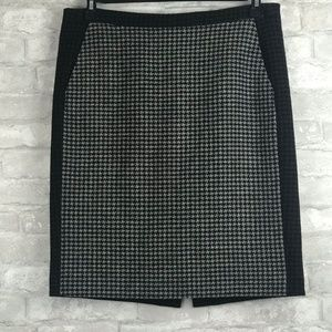 J Crew Factory Pencil Skirt Houndstooth Pattern 10